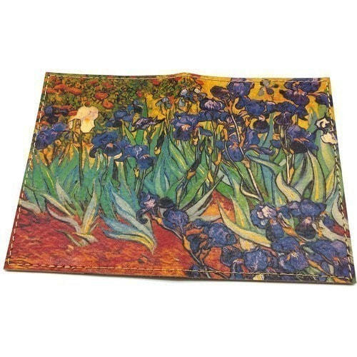 "Кожаная обложка на паспорт. Ван Гог ""Ирисы"" (фото)"