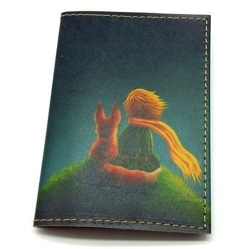 Кожаная обложка на паспорт. Маленький принц (фото)