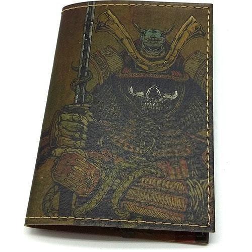 Кожаная обложка на паспорт. Самурай (фото)