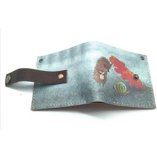 Кожаный кошелек. Ежик в тумане и улитка (фото)