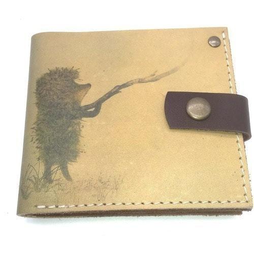 Кожаный кошелек. Ежик в тумане (фото)