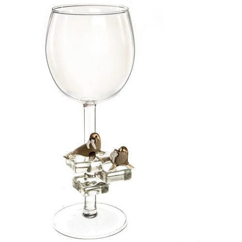 """Бокал для вина из стекла ручной работы. """"Тюлени"""" (фото)"""