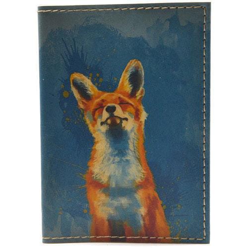Кожаная обложка на паспорт. Лиса (фото)