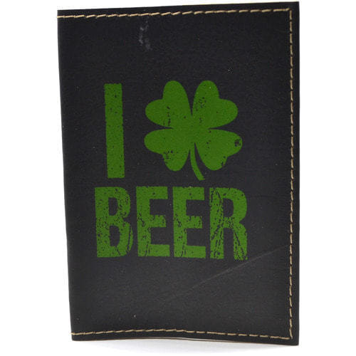 Кожаная обложка на паспорт. Я люблю пиво (фото)