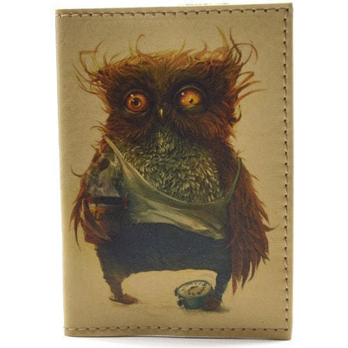 Кожаная обложка на паспорт. Филин (фото)