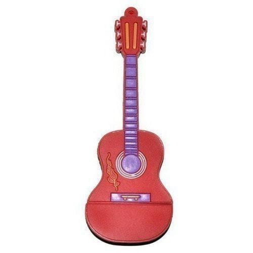 Подарочная флешка. Гитара (цвет красный) (фото)