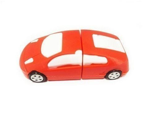 Подарочная флешка. Автомобиль (цвет красный) (фото)