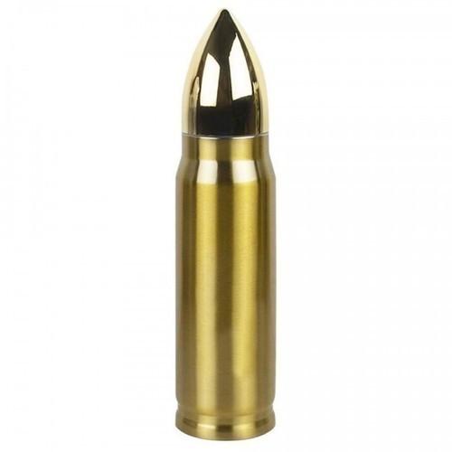 Подарочная термокружка. Пистолетный патрон (цвет золото) (фото)
