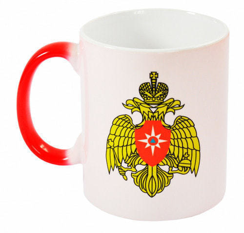 Подарочная керамическая кружка-хамелеон. МЧС России (фото)