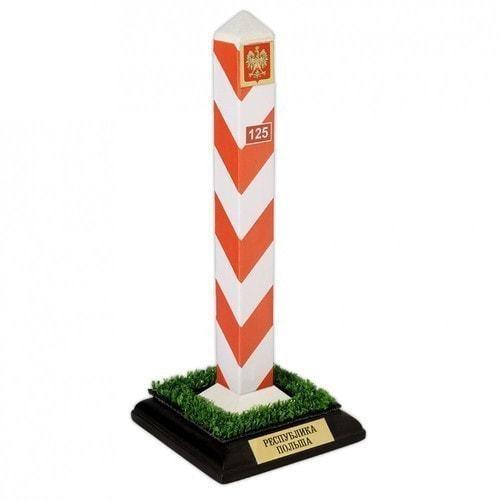Оригинальный сувенир. Пограничный столб Польша (высота 22 см)