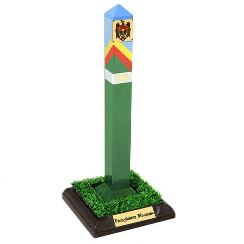 Оригинальный сувенир. Пограничный столб Республика Молдова (высота 22 см)