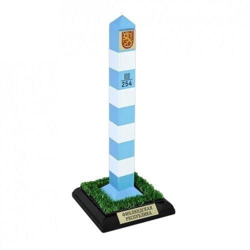Оригинальный сувенир. Пограничный столб Финляндская Республика (высота 22 см)