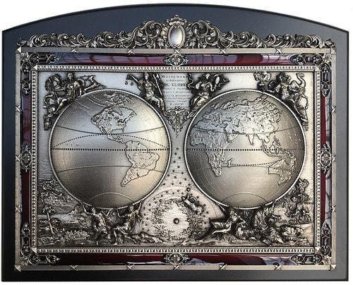 """Панно """"Карта Мира"""" (20 х 25 см) (фото)"""