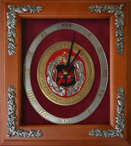 """Настенные часы """"100 лет ГРУ"""" (29 х 34 см)"""