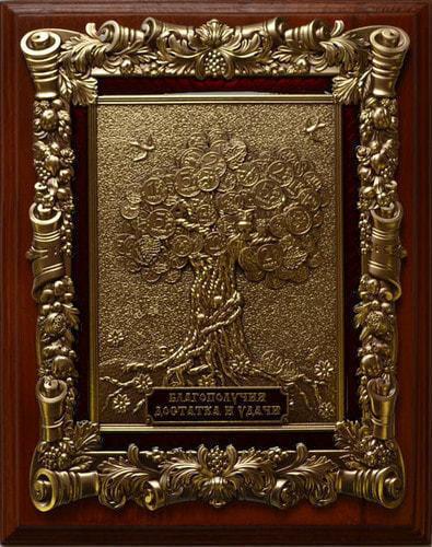 "Панно ""Денежное дерево"" (20 х 25 см) (фото)"