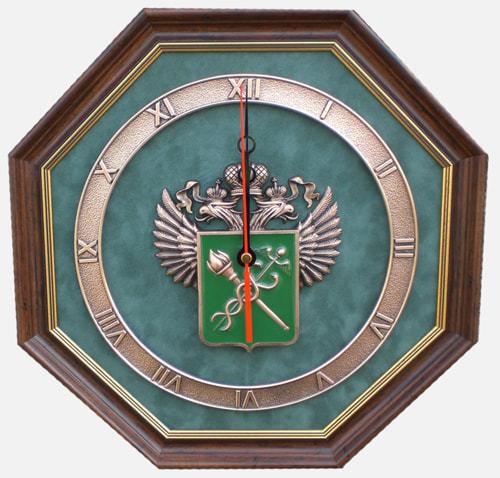 "Настенные часы ""Эмблема Таможни"" (34 х 34 см)"