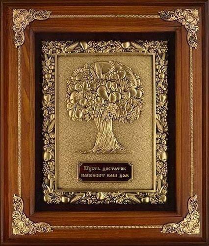 """Панно из металла в деревянной раме """"Дерево Изобилия"""" (29 х 34 см) (фото)"""