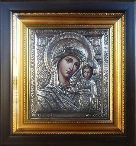 """Икона """"Казанская Божья Мать"""" (26 х 25 см)"""