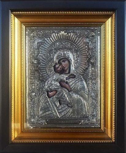 """Икона """"Владимирская Божья Мать"""" (30 х 25 см)"""