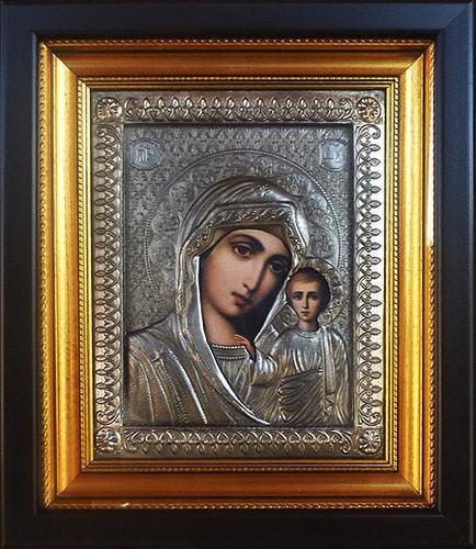 """Икона """"Пресвятая дева Мария с младенцем Иисусом"""" (30 х 26 см)"""