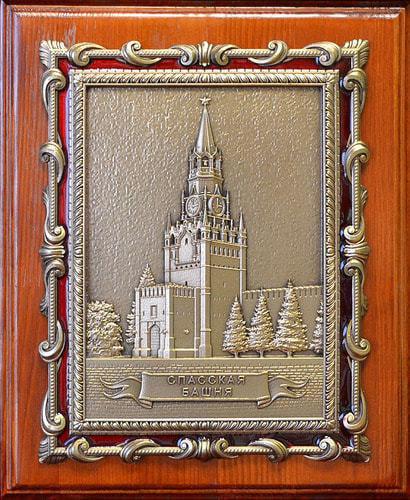 """Плакетка """"Спасская башня"""" в подарочной упаковке (20 х 25 см)"""