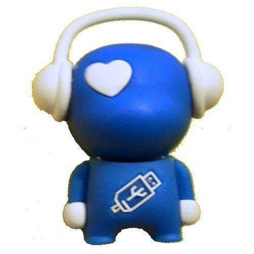 Подарочная флешка. Музыкальный человек (синий) (фото)