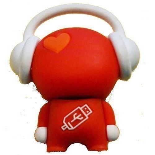 Подарочная флешка. Музыкальный человек (красный) (фото)