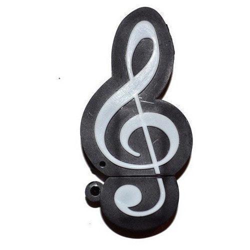 Подарочная флешка. Скрипичный ключ черный (фото)