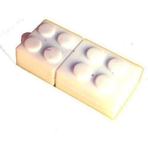 Подарочная флешка. Конструктор Лего. Белый (фото)