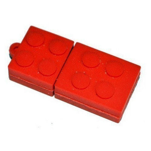 Подарочная флешка. Конструктор Лего. Красный (фото)