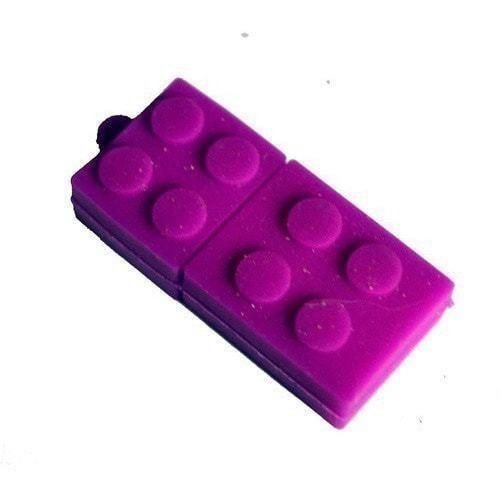 Подарочная флешка. Конструктор Лего фиолетовый (фото)