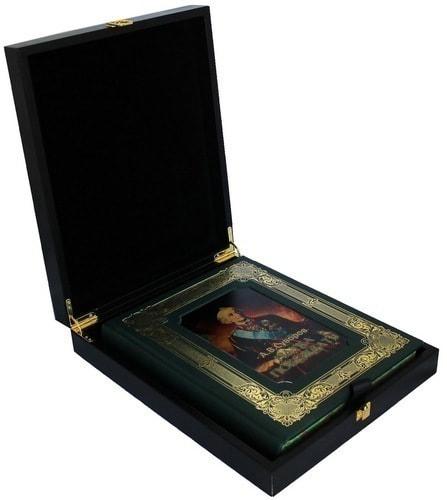 Книга в кожаном переплете и подарочном коробе. Суворов А.В. Наука побеждать (фото)