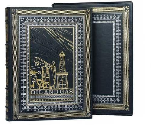 Подарочная книга в кожаном переплете. Нефть и газ. (на англ. языке) (фото)