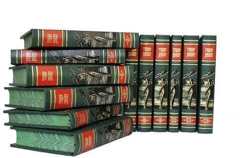 Подарочная книга в кожаном переплете. Теодор Драйзер. Собрание сочинений в 12-ти томах (фото)