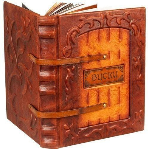 Подарочная книга в кожаном переплете. Виски. Полный всемирный путеводитель (фото)