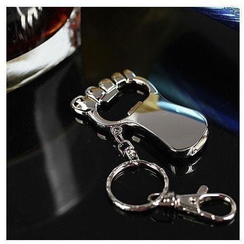 Подарочная металлическая флешка. Открывалка в виде ступни (фото)