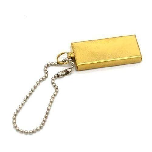 Подарочная металлическая флешка. Слиток золота (мини) (фото)