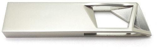 Подарочная металлическая флешка. Геометрия (цвет серебро)