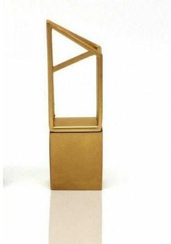 Подарочная металлическая флешка. Геометрия (цвет золото) (фото)