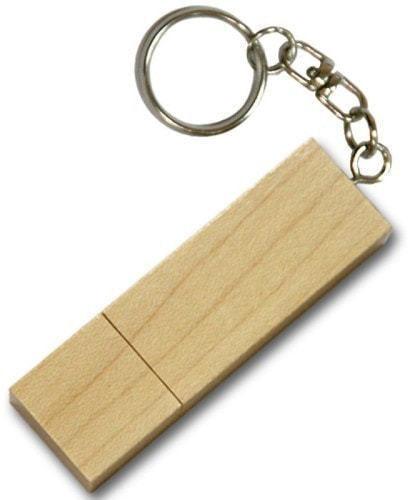 Подарочная деревянная флешка. Прямоугольник