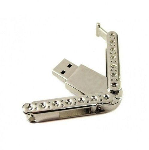 Подарочная металлическая флешка. Раскладушка