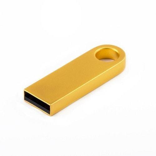 Подарочная металлическая флешка. Кольцо (цвет золото)