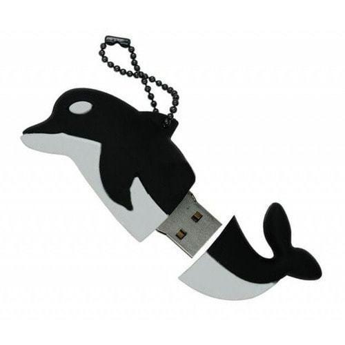 Подарочная флешка. Дельфин черный