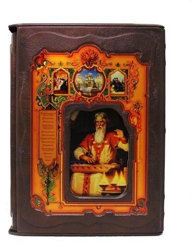 Подарочная книга в кожаном переплете. Русская культура (в футляре) (фото)