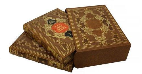 """Подарочная книга в кожаном переплете. """"Тайные общества, союзы и ордена"""" в 2-х томах (в футляре) (фото)"""