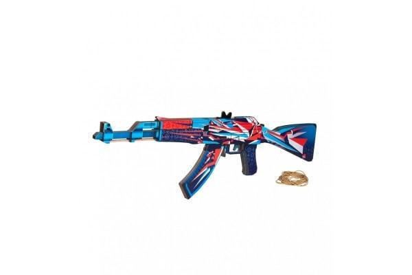 """Деревянное оружие Counter-Strike. Автомат-резинкострел """"Буйство красок"""""""