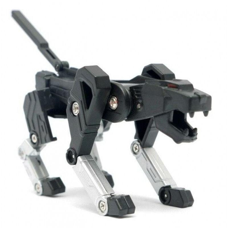 Подарочная флешка. Робот-трансформер. Собака (цвет черный) (фото)