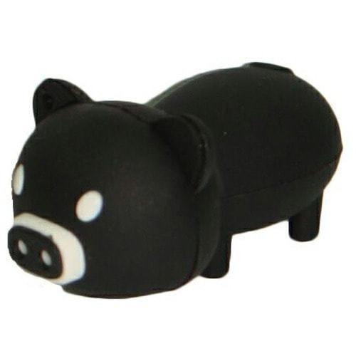 Подарочная флешка. Свинья черная
