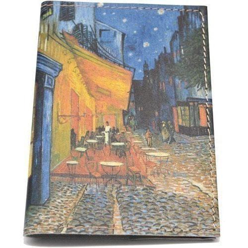 Кожаная обложка на паспорт. Ван Гог. Ночное кафе (фото)