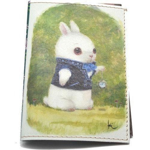 Кожаная обложка на паспорт. Заяц (фото)